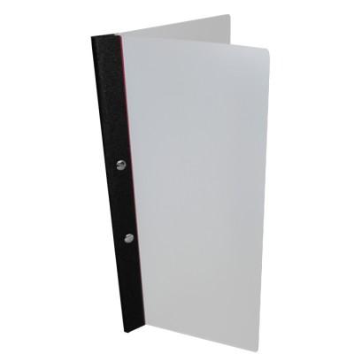 Slimline Durable Poly Bi-Folder with Bookcloth Spine + 3 Pockets